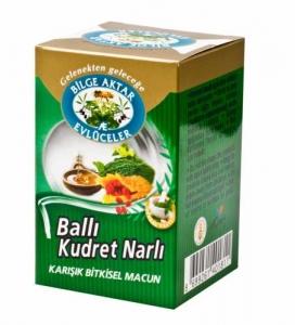 BİLGE AKTAR - BALLI KUDRET NARLI KARIŞIK BİTKİSEL MACUN 225 GR